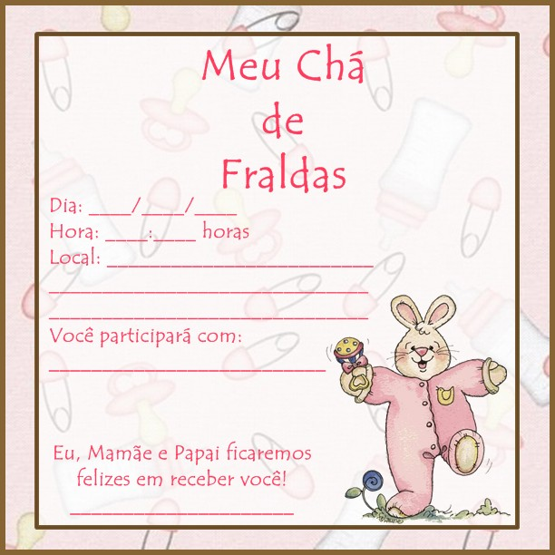 Ch   De Fraldas  Rosa Para Meninas E Verde   Gua  Para Menino E Menina