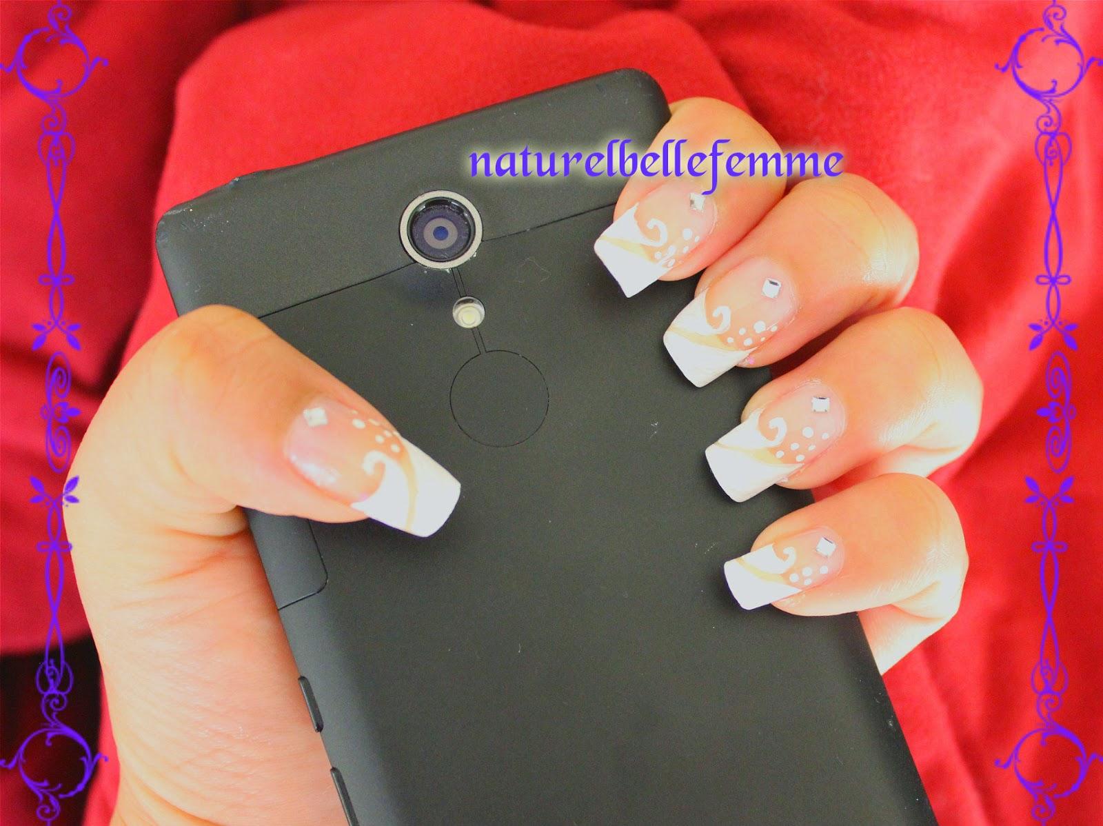 white french nail art