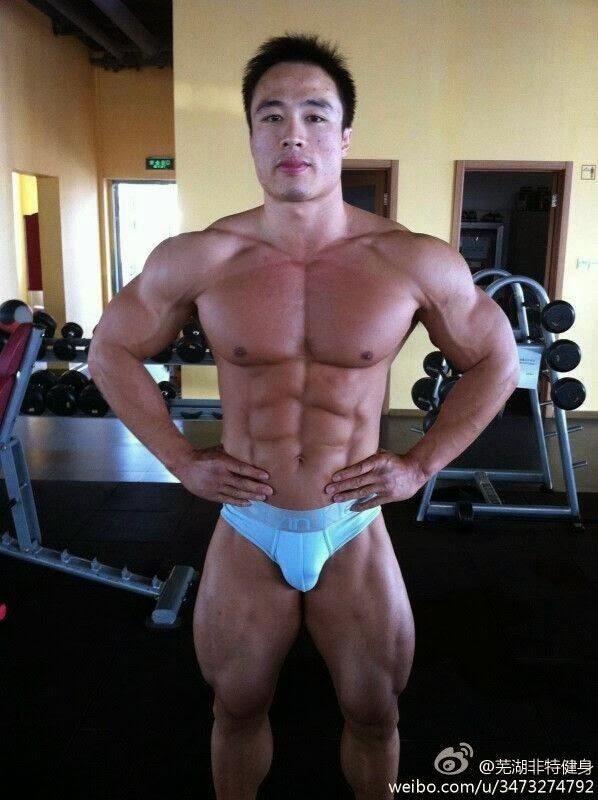 Wang Wei chinese bodybuilder
