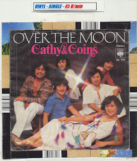 "Cover Album of CATHY LEE AND THE COINS - Over The Moon,Vinyl 7"" (1978)"