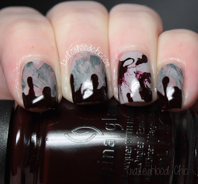 china glaze great outdoors bloody zombie nails