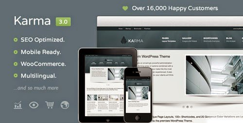 Karma Clean and Modern Wordpress Theme Version 3.0.2 free