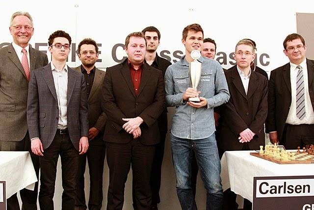 Echecs : Fabiano Caruana (2811) 1/2 Magnus Carlsen (2865) © Chess & Strategy