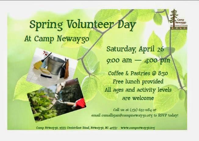 Camp Newaygo, Newaygo, April 2014, Free Event, Volunteer, All Ages