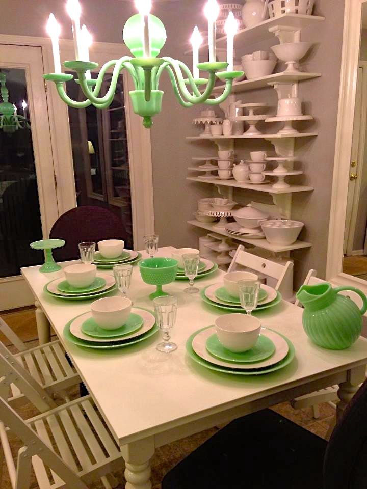 Good things by david collecting jadeite martha stewart signature jadeite chandelier aloadofball Gallery