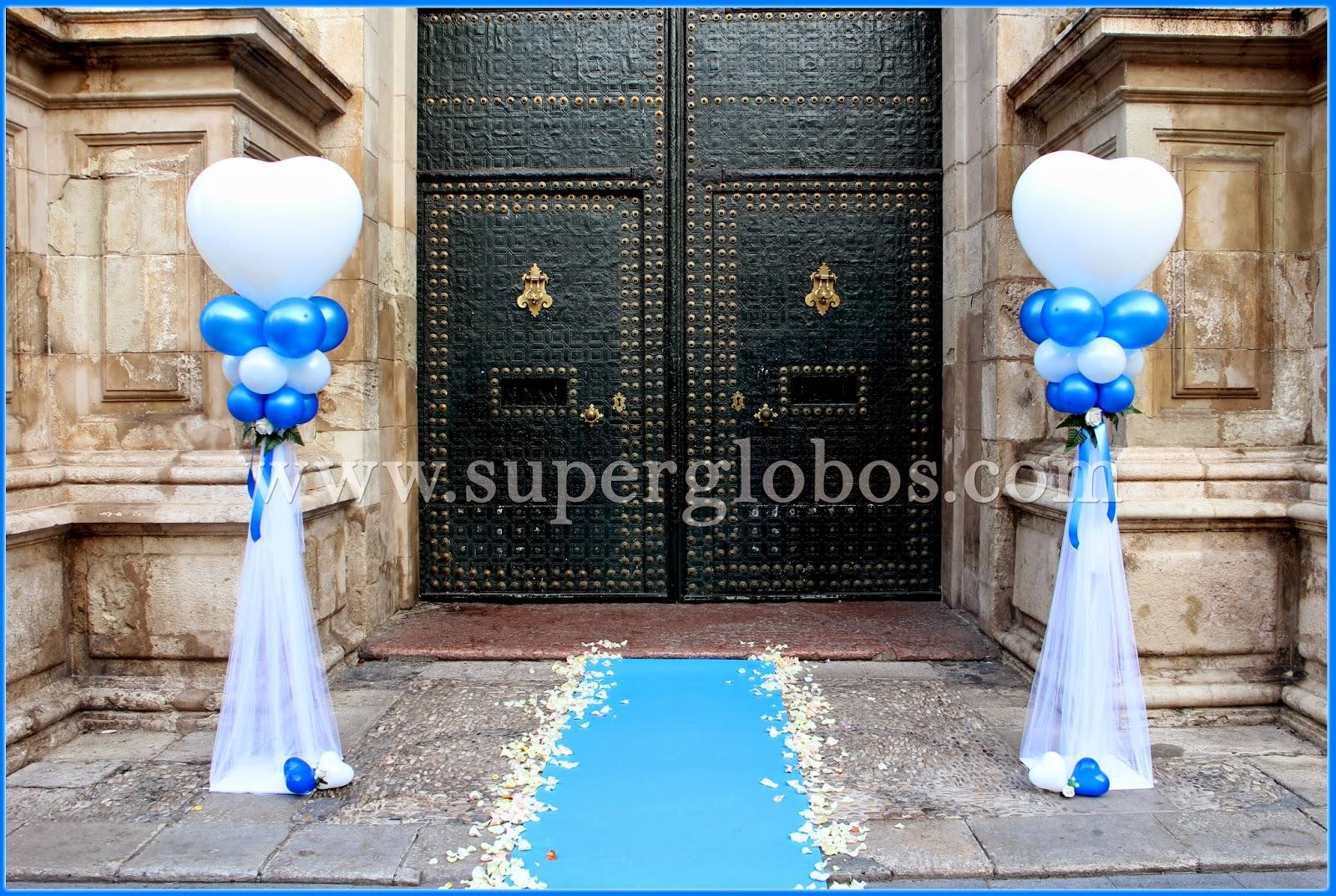 Decoraci n con globos para la boda de raquel y daniel for Arreglos con globos para boda en jardin