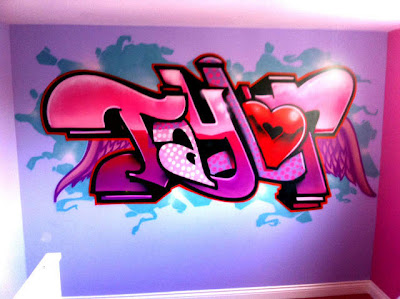 Graffiti Murals for Bedrooms Taylor Name