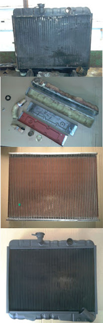 reconditioned Jaguar series 2 radiator