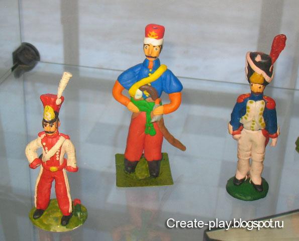 солдаты из пластилина