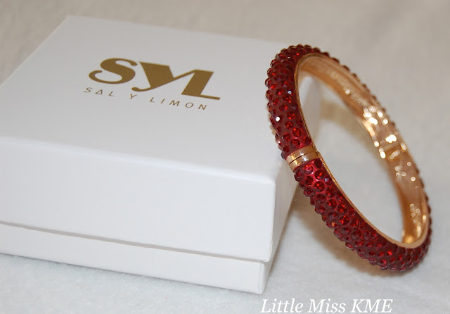 Sal Y Limon, bracelet, red, diamontie