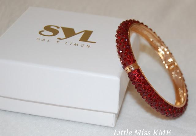 Sal Y Limon, bracelet, red, diamontie