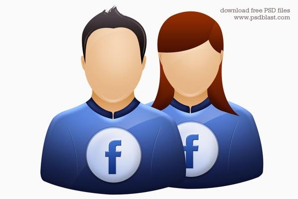 Facebook, twitter, Deviantart User Icons PSD