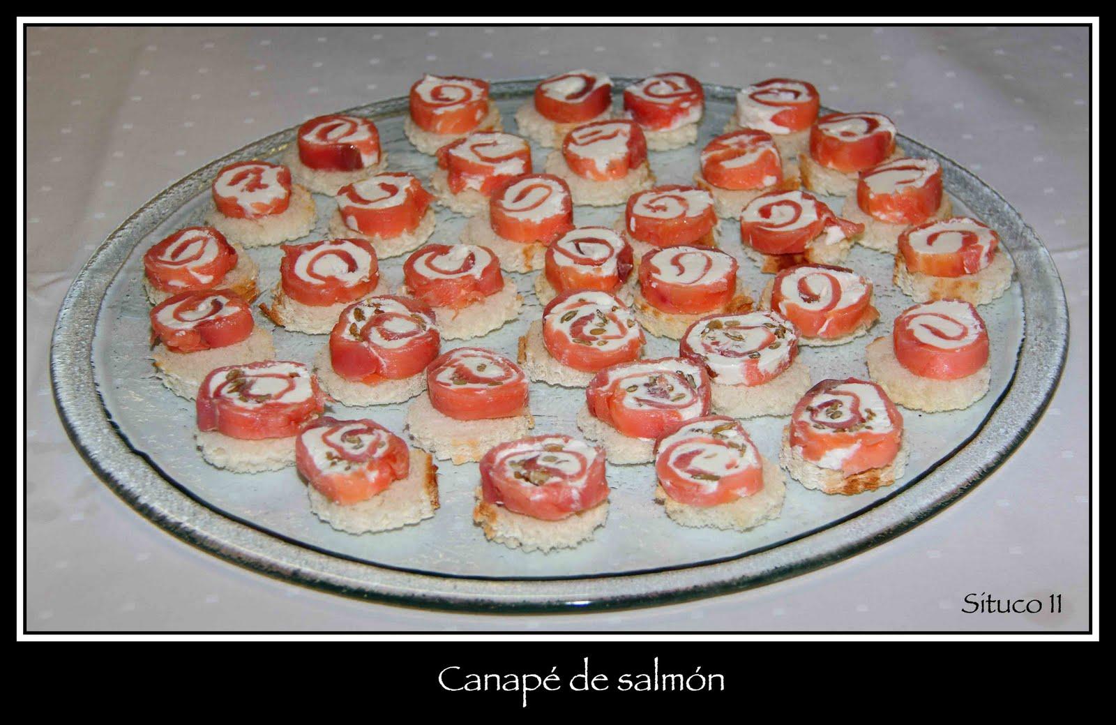 Cocinando en mi casa un canap de salm n y queso muy for Canape de salmon ahumado