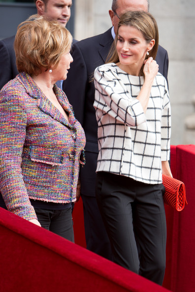 Queen Letizia and Queen Sofia both participated in the Red Cross' Banderita Day; the day is the largest source of revenue for the Spanish Red Cross to bear its charity projects