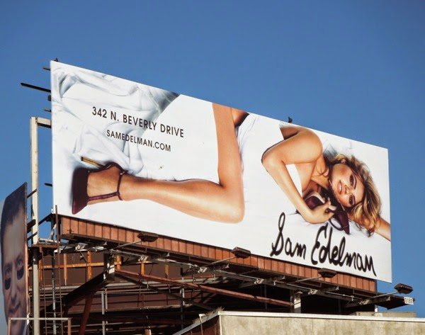 Kate Upton Sam Edelman shoes FW14 billboard