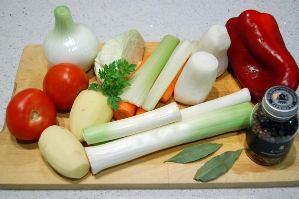 como hacer caldo de verduras