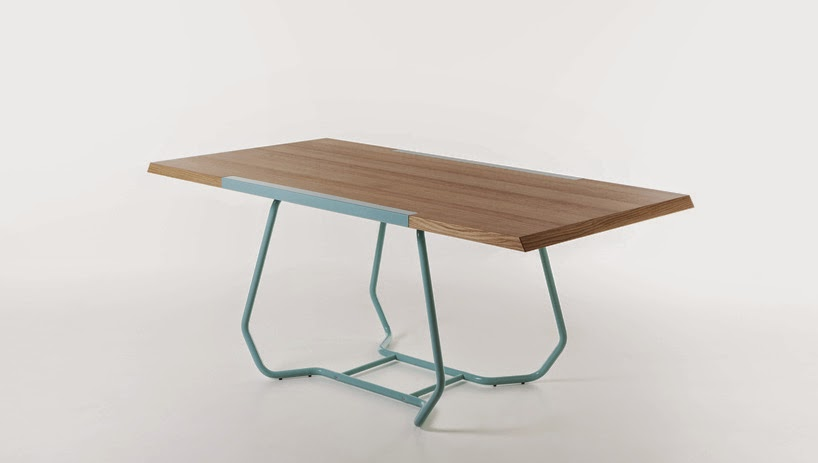 modern dining table, two-faced table