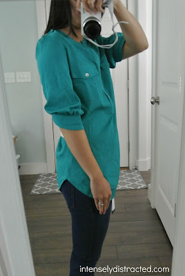 Stitch Fix: 41Hawthorn - Filbert 3/4 Sleeve Popover Blouse