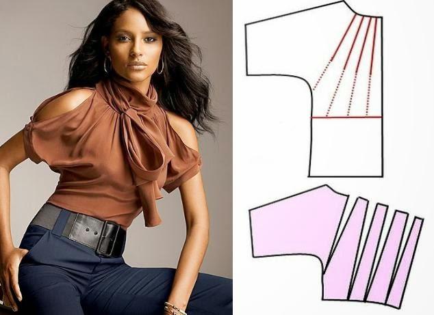 Блузка из куска ткани своими руками 173