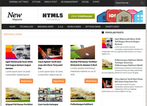 news magazine responsive blogger template