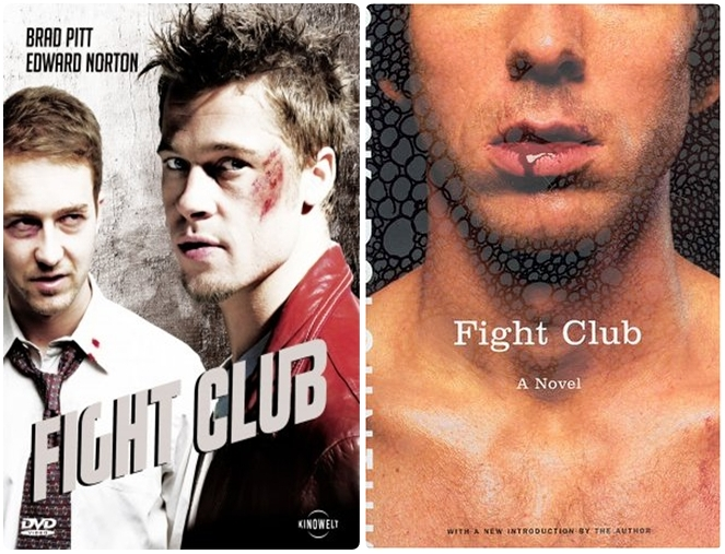 compare and contrast movie and book fight club