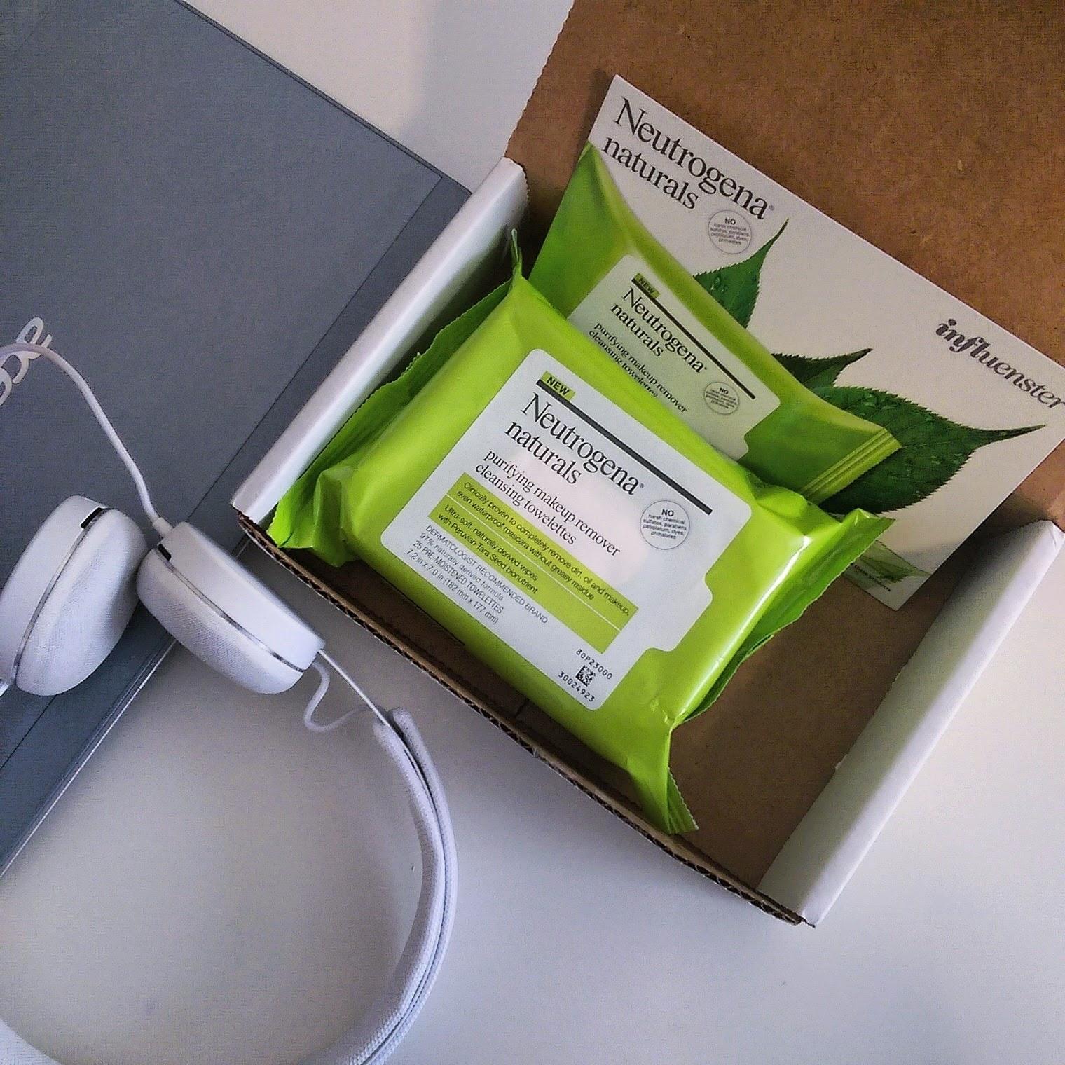 neutrogena naturals, neutrogena wipes, influenster, wipe for water