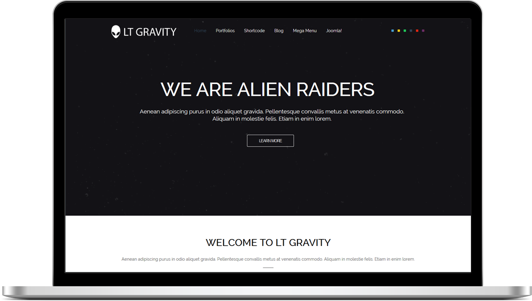 LT Gravity One Page - Free Joomla! Template
