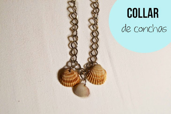 Collar de conchas facil DIY