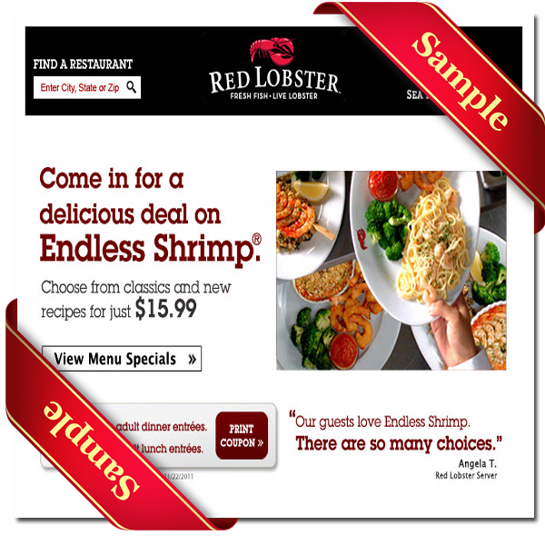 Free red lobster coupon codes