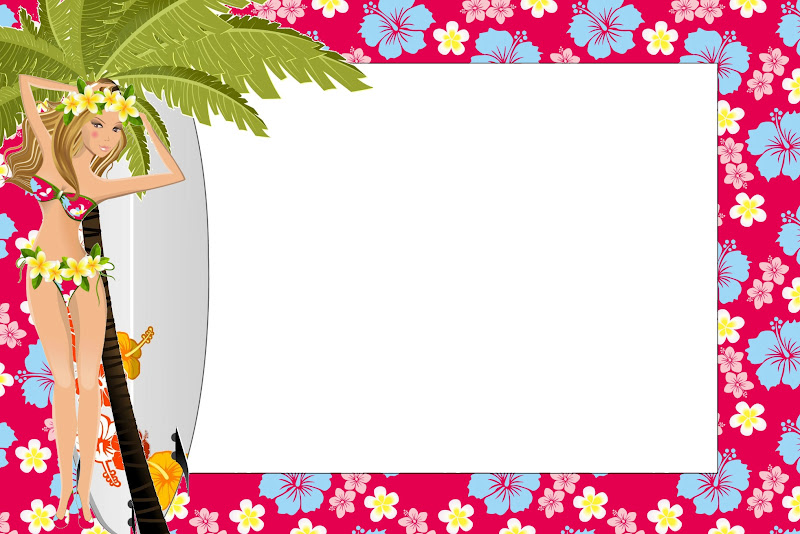 Decoracion Hawaiana Para Imprimir Cebrilcom