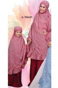 Mukena Dewasa Tatuis Tiara 092 - Merah (Toko Jilbab dan Busana Muslimah Terbaru)