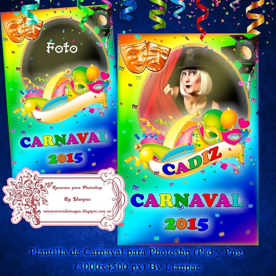 Recursos Photoshop Llanpac: Plantilla para carteles de Carnaval y ...