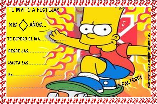 Invitaciónes de cumpleaños para imprimir Simpson - Imagui
