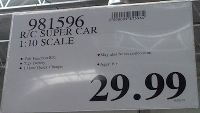 Deal for the XQ RC Super Car at Costco