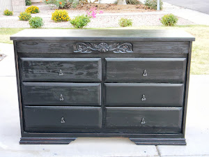 Black Shabby Chic Dresser *SOLD*