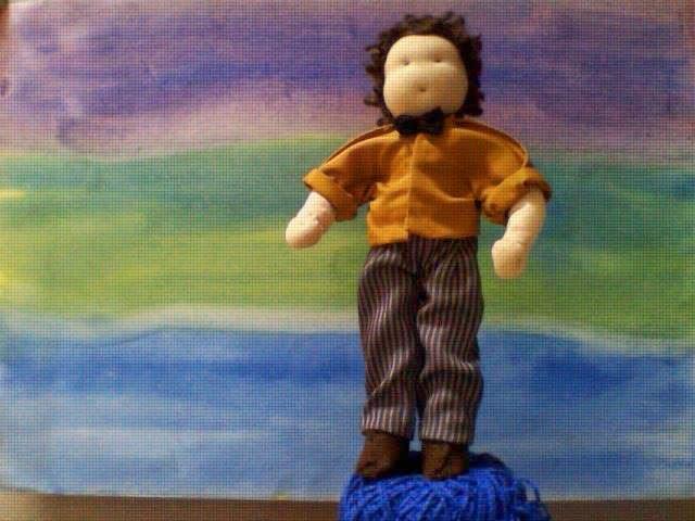 Boneco de pano e lã