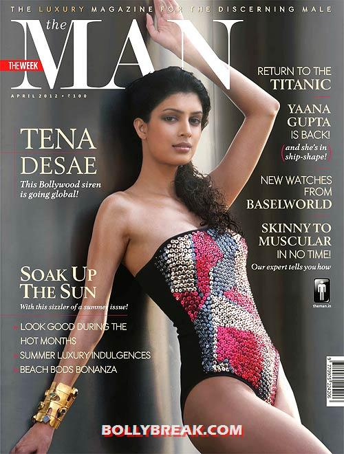 Tena Desae in bikini on man magazine cover - (3) - Tena Desae Bikini Wallpapers