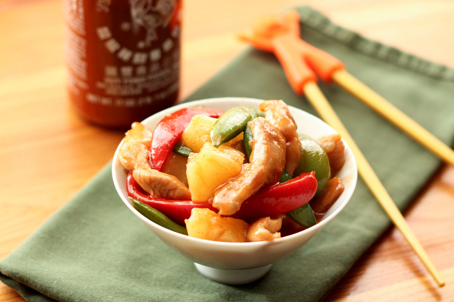 Sweet and Sour Chicken Stir-Fry - get the recipe at barefeetinthekitchen.com