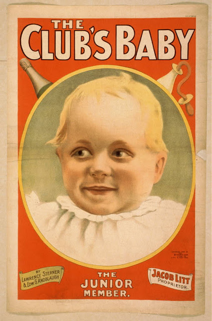 classic posters, free download, graphic design, movies, retro prints, theater, vintage, vintage posters, The Club's Baby, The Junior Member - Vintage Theater Poster