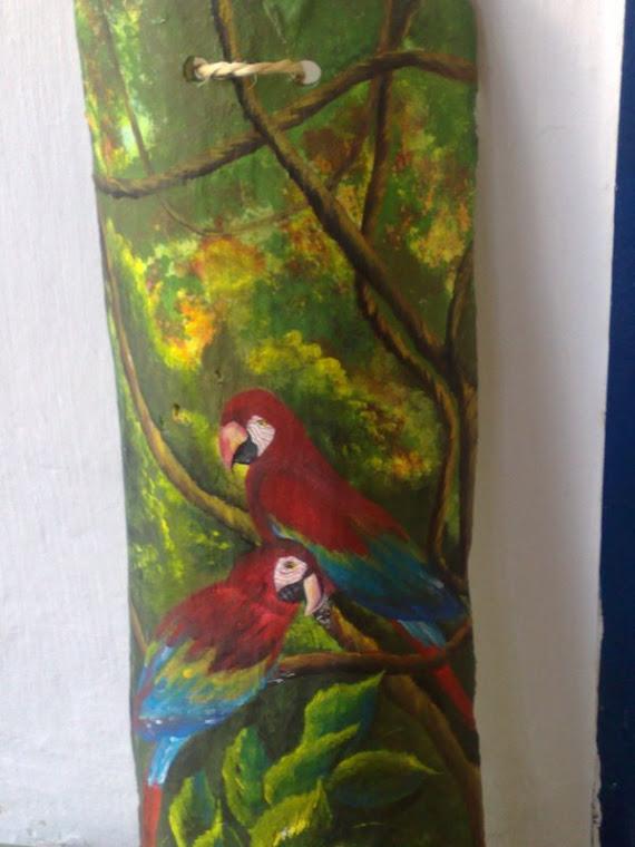 Pássaros, Pintura Acrílica sobre telha