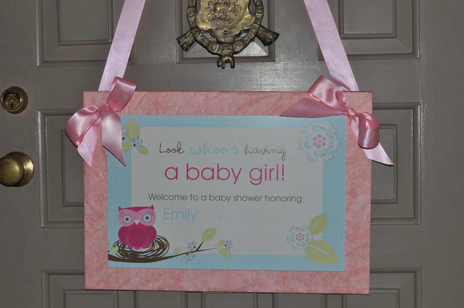Baby shower fun emily ann interiors for Baby shower front door decoration ideas
