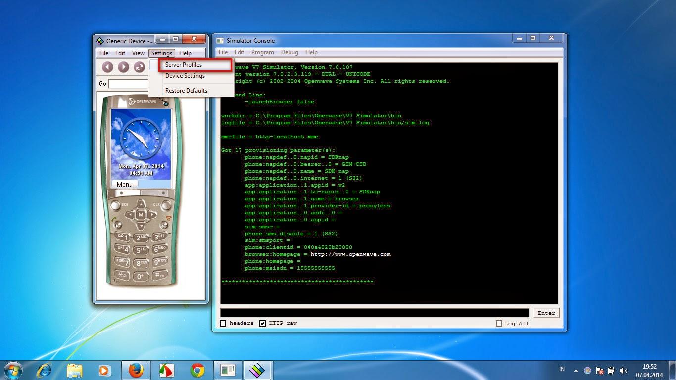 Cara Koneksikan Openwave Simulator Ke Internet