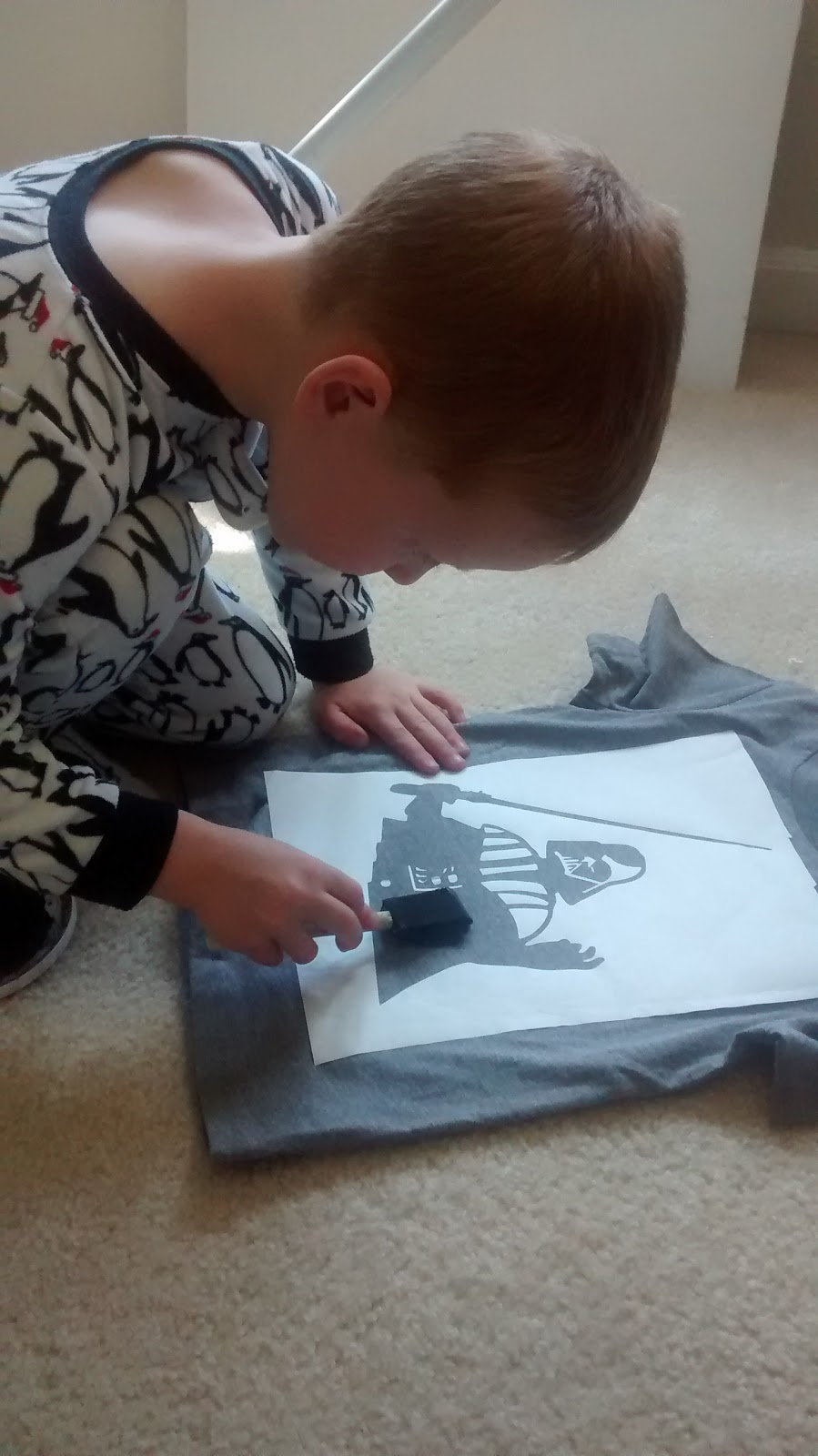 DIY Darth Vader Shirt with a Freezer Paper Stencil