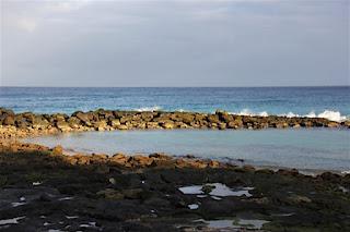 Blick auf die Meeresbucht