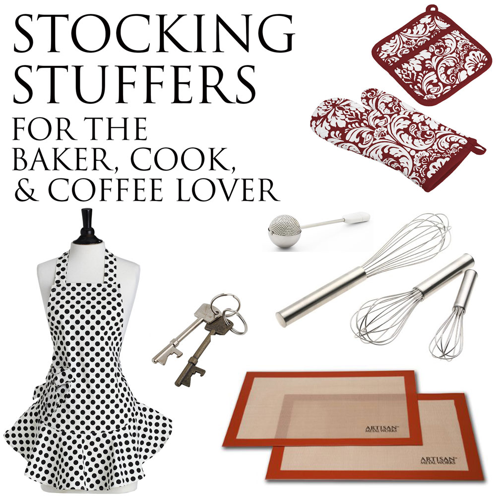 Stocking Stuffer Gift Ideas - kitchen and food related gift guide ranging from $3 - $30