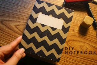 DIY, CHEVRON, NOTEBOOK