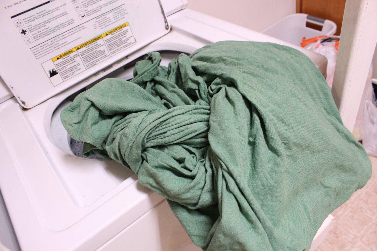 Drop cloth curtains dyed - Sunday December 11 2011