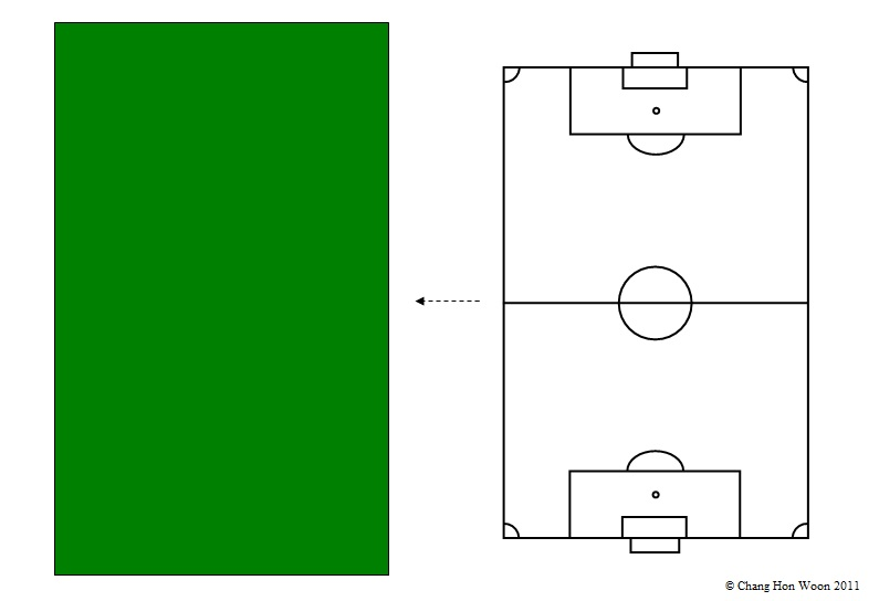 HOW TO DRAW IMPRESSIVE PICTURES IN MS WORD A SOCCER FIELD