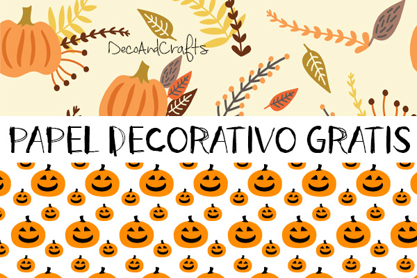 DecoAndCrafts.com: GRATIS PAPEL DECORATIVO HALLOWEEN/OTOÑO PARA ...