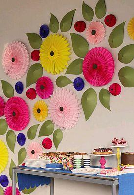 Decoracion de fiestas infantiles con flores for Guirnaldas para fiestas infantiles